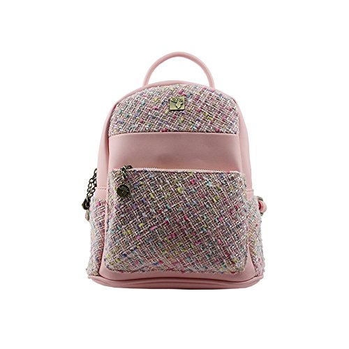 Donna a Tweed House Borsa Zainetto Of Pink Light WqfnpnAw