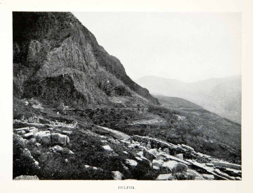 1928-print-delphi-greece-mount-parnassus-oracle-apollo-valley-phocis-pleistos-original-halftone-prin