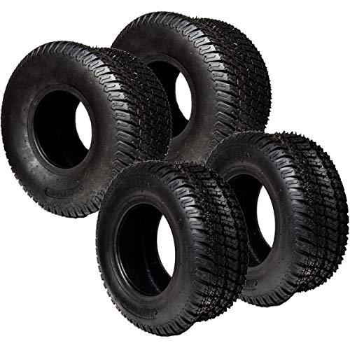 Replaces John Deere Mower Turf Tire Set 15x6x6 15x6.00-6 P332 Front & 20x10x8 20x10.00-8 P332 Rear