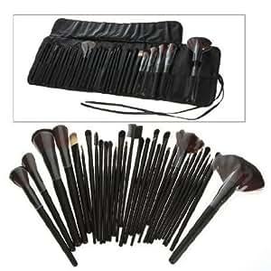 Generic 32 PCS Makeup Brush Set + Black Pouch Bag Science Purchaseng Strips