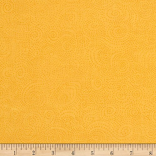 Bear Essentials 3 Swirl Dots Yellow Fabric by The Yard - P & B Textiles 0564541