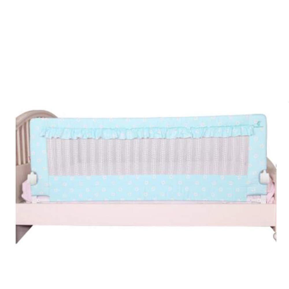 ベッドレール ベッドフェンス赤ちゃん秋の予防ベッドガードレールベッド120cmベージュブルーピンク 安全ゲート (色 : 青)  青 B07K7DRS3R