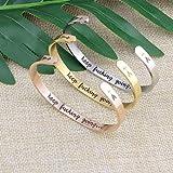 Joycuff Rose Gold Bangle Inspirational Bracelets