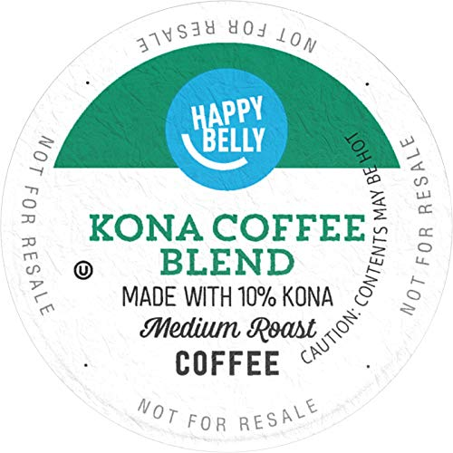 Amazon Brand – 100 Ct. Happy Belly Medium Roast Coffee Pods, Kona Blend, Compatible with Keurig 2.0 K-Cup Brewers