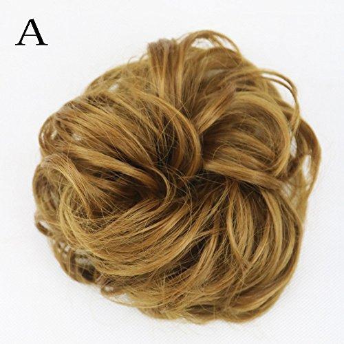 Regalo de San Valentín! Hennta Rizado y desordenado para el cabello para mujer Peineta para el pelo Peinados Pelucas...