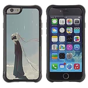 Be-Star único patrón Impacto Shock - Absorción y Anti-Arañazos Funda Carcasa Case Bumper Para Apple iPhone 6 Plus(5.5 inches)( Rain Death Monster Blue Clouds Skull )
