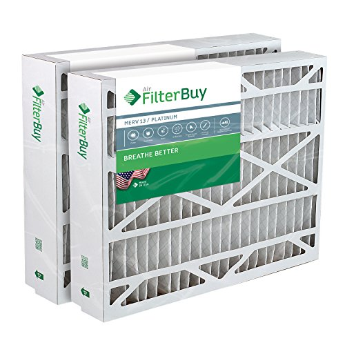 FilterBuy 17.5x27x5 Trane Perfect Fit BAYFTFR17M Compatible Pleated AC Furnace Air Filters (Pack of 2). AFB Platinum MERV 13.