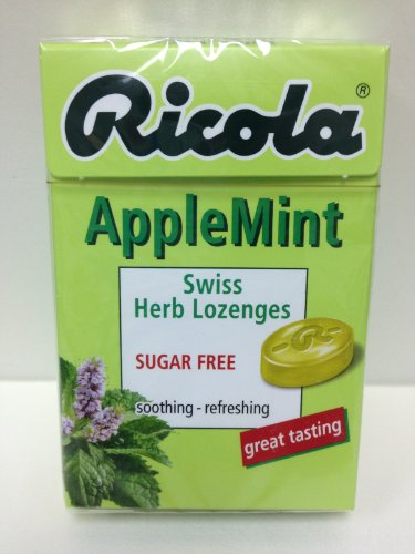 Ricola Swiss Herbal Sugar-free Apple Mint Hard Candy x 5 packs (Candy Ricola)