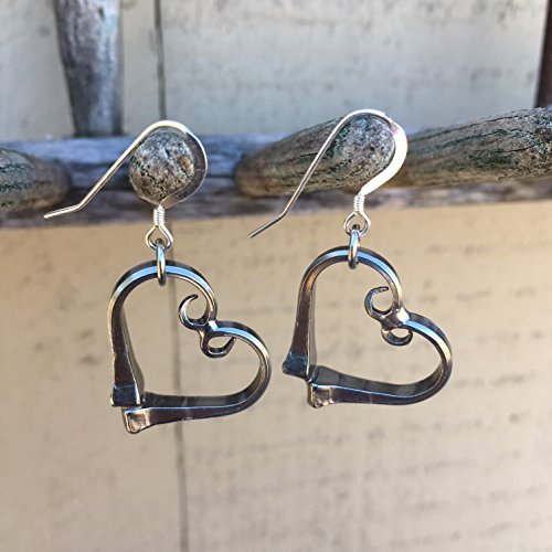 - Equestrian Heart Earrings Horseshoe Nails Made in the USA