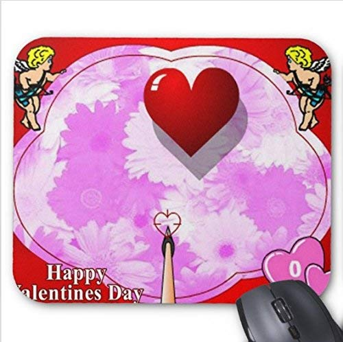 (BGLKCS Happy Valentines Day Clipart Mouse pad)