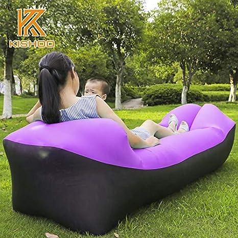 Amazon.com: Sofá hinchable para acampada o al aire libre con ...