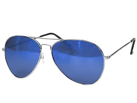 6594236b8aa51 Lentes teñidos de aviador gafas de sol espejo láser azul Unisex Gafas  Wayfarer 400 UV  Amazon.es  Ropa y accesorios