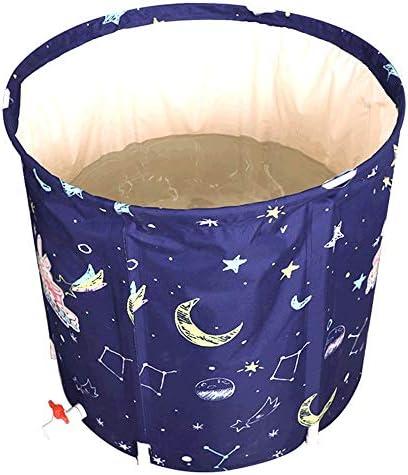 浴槽 折りたたみ風呂バレル家庭用断熱アダルトバスバレル肥厚大人バースバレルポータブルバスタブ65x65cm 大人用家庭用 (Color : Blue, Size : 65x70cm)
