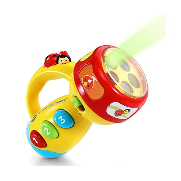 515c1FH5HAL. SS600  - VTech Spin and Learn Color Flashlight, Yellow