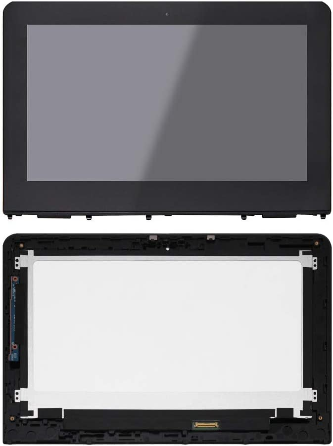 """JYLTK 11.6"""" HD (1366x768) LCD Screen LED Display + Touch Digitizer Glass + Bezel Frame Assembly 906791-001 for HP X360 11-AB"""