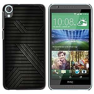 Be Good Phone Accessory // Dura Cáscara cubierta Protectora Caso Carcasa Funda de Protección para HTC Desire 820 // Pattern Sci-Fi Grey Dark Lines