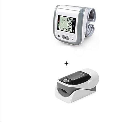 ZW Oxímetro de dedo y monitor de frecuencia cardíaca and Tensiómetro de muñeca equipo , Grey