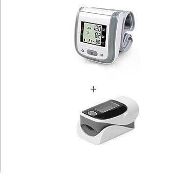 ZWW Oxímetro de dedo y monitor de frecuencia cardíaca and Tensiómetro de muñeca equipo , Grey: Amazon.es: Salud y cuidado personal