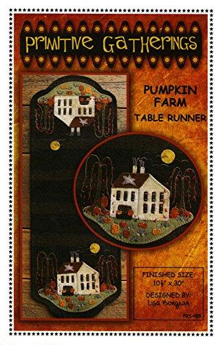 - Pumpkin Farm Table Runner Wool Applique Pattern by Lisa Bongean from Primitive Gatherings 10.5