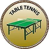Table Tennis Award, 1 inch dia Gold Pin ''Recreation Collection'' by Keepsake Awards