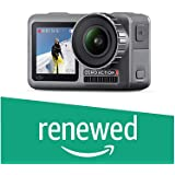 DJI OSMO Action Cam Digital Camera with 2 Displays 36FT/11M Waterproof 4K HDR-Video 12MP 145° Angle Black (Renewed)