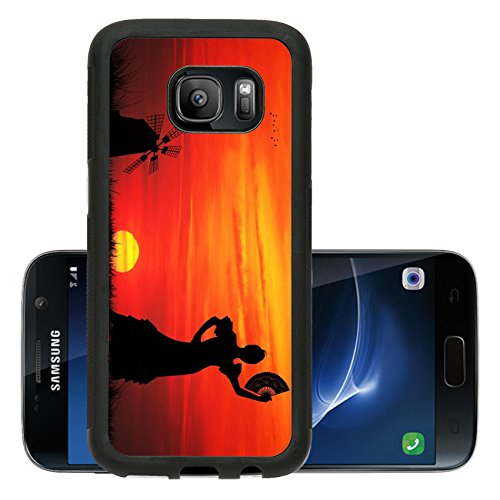 Liili Premium Samsung Galaxy S7 Aluminum Backplate Bumper Snap Case spanish girl IMAGE ID 16857013 (Girls Spanish Flamenco Dancer Costume)