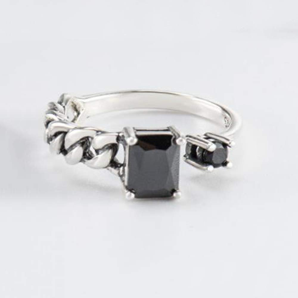 Thundertechs Ladies Ring Sterling Silver Woven Open Ring Give it to Dear People