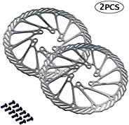 BNVB 160/180/203mm Disc Brake Rotors,2Pcs/Set G3 Stainless Steel Rotor Bicycle Disc Brake Rotors with Bolts fo