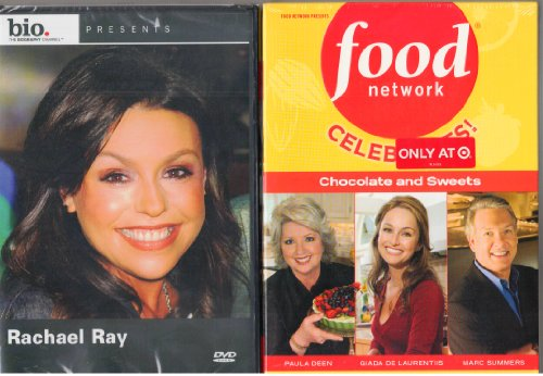 - Food Network Celebrates Chocolate and Sweets DVD - 3 Disc Set Features Giada De Laurentis Sweet Endings; Desserts with Paula Deen; and Sweet Secrets Unwrapped with Marc Summers , Biography Rachael Ray - 2 Pack Gift Set - Combined Total 4 Discs