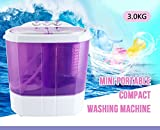 KUPPET Purple Electric Mini Portable Compact 8-9lbs Capacity Washing Machine Washer Spin Dryer Laundry