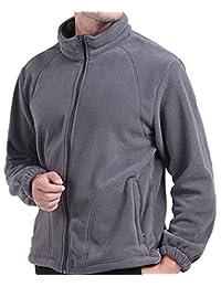 Alafen Men's Full Zip Autumn Winter Outdoor Polar Fleece Jacket