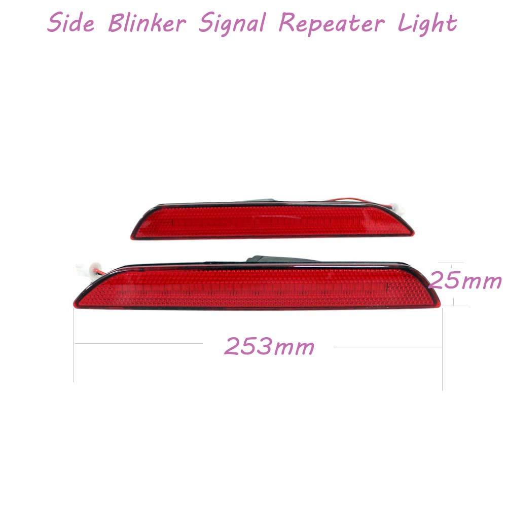luci di posizione laterali per barra posteriore Mustang 2015-2018 2 pezzi Jinglingkj