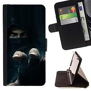 BullDog Case - FOR/Apple Iphone 6 PLUS 5.5 / - / Thief Rebel Hoodie /- Monedero de cuero de la PU Llevar cubierta de la caja con el ID Credit Card Slots Flip funda de cuer