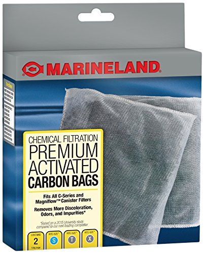 MarineLand Premium Activated Carbon Bags, for Chemical Filtration in Aquariums, 2-Count ()