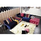 Divani Casa Dubai - Contemporary Fabric Sectional Sofa Multi-Color/Multi-color