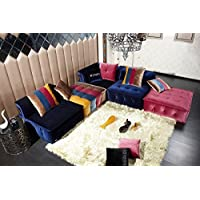 Divani Casa Dubai - Contemporary Fabric Sectional Sofa Multi-Color/Multi-color