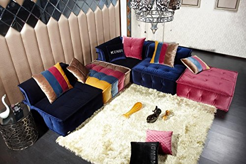 Modular Sectional Sofa (Divani Casa Dubai - Contemporary Fabric Sectional Sofa Multi-Color/Multi-color)