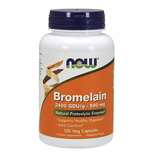 NOW Bromelain 500 120 Capsules product image
