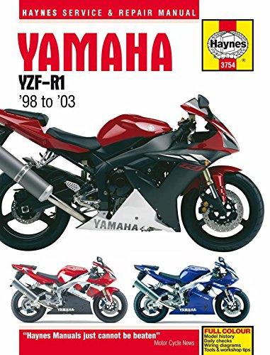 amazon com 98 03 yamaha yzf r1 haynes repair manual misc automotive rh amazon com 2003 Yamaha YZF R1 2015 Yamaha YZF-R1