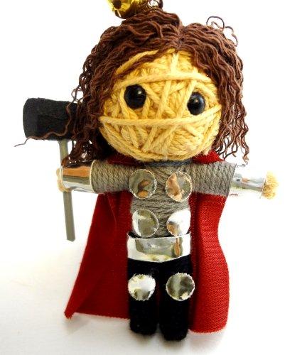 Thor Voodoo String Doll Key Chain Handmade Superhero Avengers