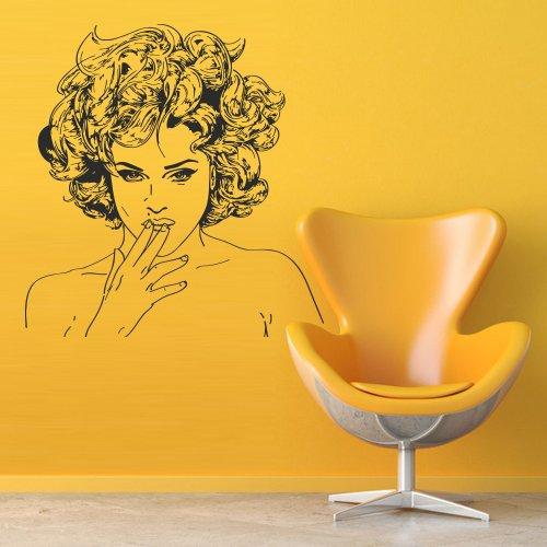 Wall Decal Decor Decals Art Girl Salon Beauty Barbershop Hair Diva Singer -