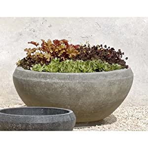 Round Pot Planter Finish: Graystone, Size: Small