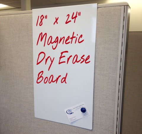 Cubicle Magnetic Dry Erase Board (18'' x 24'' x 3'') by Over the Cube