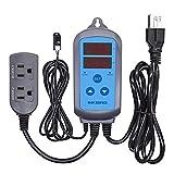 Humidity Controller IHC-200 Inkbird Humidistat Pre-wired Plug Digital AC 110V - 240V w/Sensor for Humidifier Dehumidifier ONLY Humidity Control NO Temperature Control