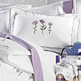 The  #39;Amore #39; Collection Double Sided Comforter Set White with Light Purple (Queen) 5 Pieces B