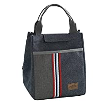 Portable Lunch Bag for Women Cooler Handbag--Reusable Lunch Tote Bag Adult Lunch Box Kids Lunch Bags Boys Girls