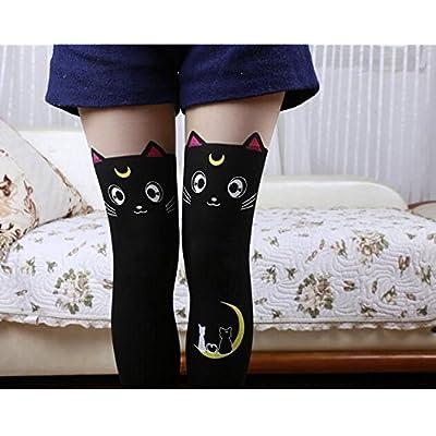 2Pcs Sailor Moon Cat Luna Stockings Socks Pantyhose Anime Cosplay Props