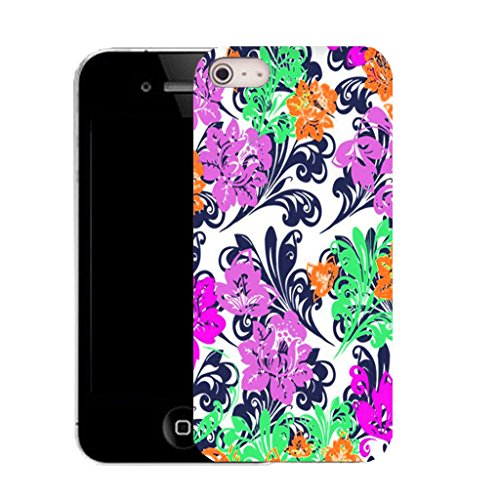 Mobile Case Mate IPhone 4s clip on Silicone Coque couverture case cover Pare-chocs + STYLET - bonny flower pattern (SILICON)