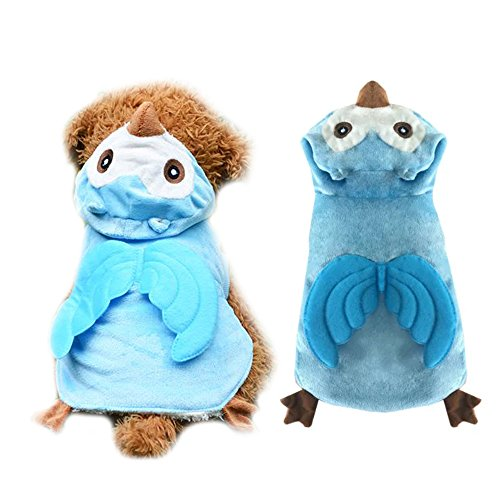 Halloween Dog Cat Owl Costume Outfits Winter Warm Fleece Dog Pet Jacket Coat Funny Small Dog Party Clothes Hoodie Clothing (S, (Dog Owl Costumes)
