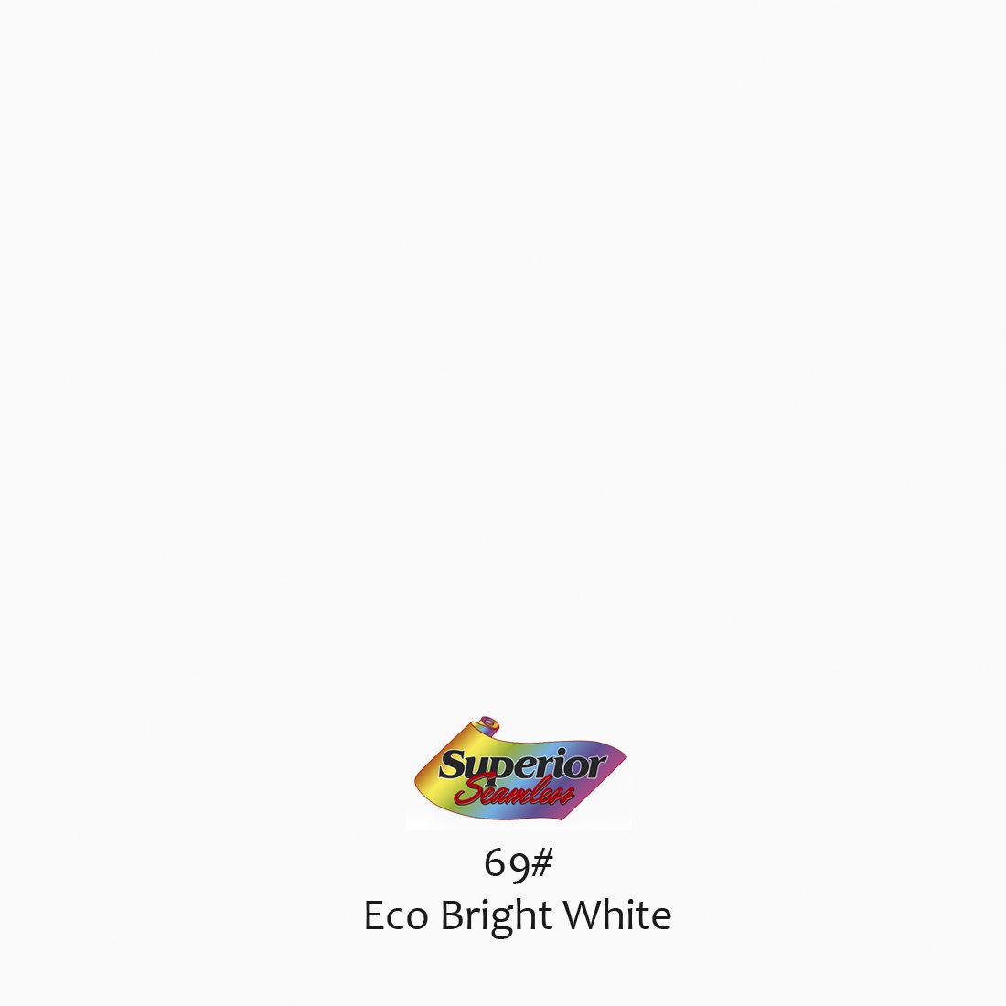 Superior Seamless Photography Background Paper, Photo Backdrop Paper 53'' wide x 16' #69 Eco Bright White (101369C)